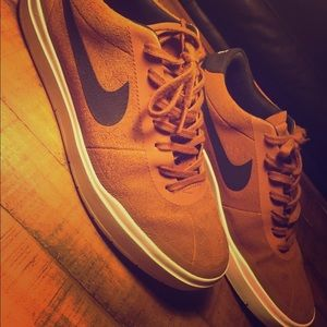 Brown Nike shoes!